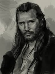 Despite his opposition to the council, he was regarded by many Jedi as sharp-witted and possessing great wisdom. Here is a final drawing of Qui-Gon Jinn. - draw-portrait-qui-gon-jinn