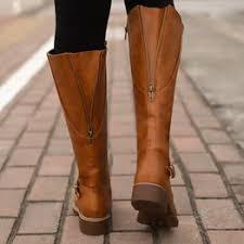 Fashion Women Winter Shoes Flat Heel Solid Color Long ... - Vova
