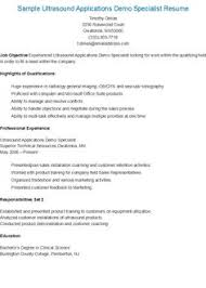 images about resame on pinterest   resume  sample html and    sample ultrasound applications demo specialist resume