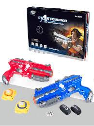 <b>Infrared Laser Tag</b> Game Set of 2 Blue Red Infrared Laser Gun ...
