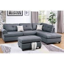 Shop <b>3</b>-<b>Pcs</b> Sectional Set with <b>Storage Ottoman</b> - On Sale ...