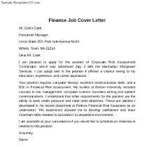 financial advisor cover letter sample financial advisor cover     Pinterest