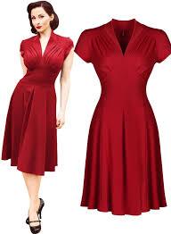 <b>Free shipping</b> Women's Vintage Style Retro 1940s Shirtwaist Flared ...