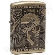 <b>Зажигалка Zippo Armor с</b> покрытием Antique Brass 29268 - цена ...