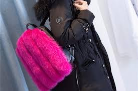 <b>women girl</b> real fox <b>fur backpacks bag</b> 2019 fashion <b>furry fluffy plush</b> ...