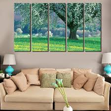 Texture Paints For Living Room Online Buy Wholesale Canvas Texture Trees Painting From China