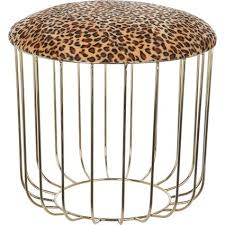 Brown Leopard Print Stool <b>40x50cm</b> (With images) | Brown leopard ...
