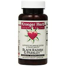 Kroeger Herb <b>Black Radish</b> and <b>Parsley</b> - 100 Capsules | Walmart ...