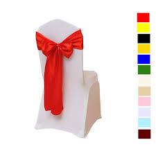 Fvstar <b>25pcs</b> Red Satin <b>Chair</b> Sashes Bows Wedding <b>Chair</b> Ribbon ...