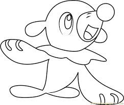 Small Picture Popplio Pokemon Sun and Moon Coloring Page Free Pokmon Sun and