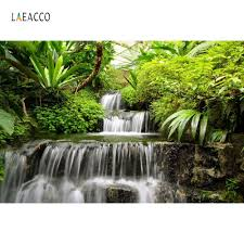 <b>Laeacco Spring Nature</b> Scenery Waterfall Trees Stream Rock ...