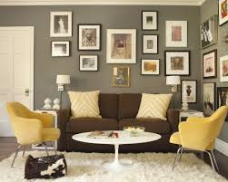 wall paint with brown furniture. brown couch gray walls this is exactly how i pictured our living room will yellow wall paint with furniture e