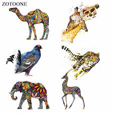 <b>ZOTOONE Colorful Animal</b> Patches Tiger Bull Head Patch Iron on ...