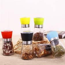 <b>Manual Household</b> Glass Salt and Pepper Grinder <b>Stainless Steel</b> ...
