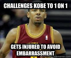 Challenges kobe to 1 on 1 Gets injured to avoid embarrassment ... via Relatably.com