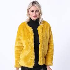2019 <b>SWYIVY Faux Fur Coat</b> Jacket Women Clothing Fashion Plus ...