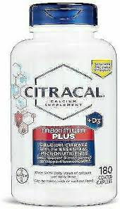 Citracal <b>Maximum Plus</b> Vitamin <b>D3</b> Calcium Caplets - <b>180</b> Count for ...
