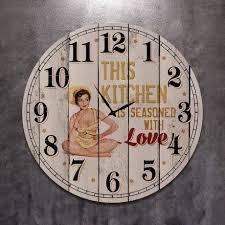 <b>Часы настенные круглые</b> This kitchen из <b>дерева</b> — купить по ...