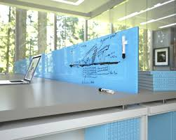 glass whiteboards and glass dry erase boards by clarus blue glass top modern office