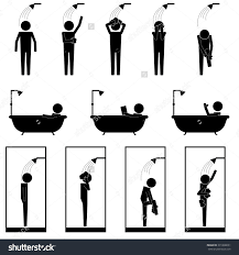 cubical stock vectors vector clip art shutterstock men in shower bath tub cubic washing body and band office cubicle