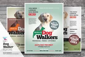 CreativeMarket - Dog Walker Flyer Templates 480800 | Graphic CreativeMarket - Dog Walker Flyer Templates 480800