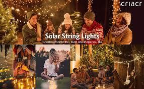 Criacr <b>Solar</b> Lights <b>Outdoor</b>, (<b>100 LED</b> 2 Modes) <b>Solar</b> Garden ...