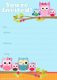 printable birthday invitations net printable party invitations cute owl invitations rjw9hfvv