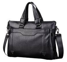 Brand <b>Man Bag Leather Black Briefcase Men</b> Business Handbag ...