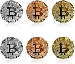 Amazon.com: <b>6Pcs</b> Bitcoin - <b>Gold</b> Silver Bronze Physical Bit Coin ...