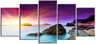 Piy Painting Canvas Prints for Living Room or Bedroom, <b>Purple</b> ...