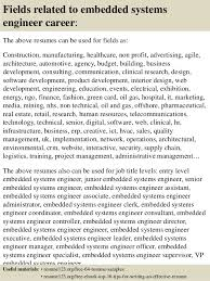 16 fields related to embedded systems engineer system engineer resume sample