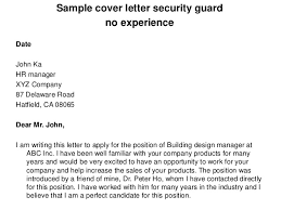 Security Service Personnel Cover Letter for Security Cover Letter     Sample Application of Night Job For Security Guard