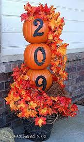 diy pumpkin address topiary 21 diy fall door decorations see more at http aaron office door decorated