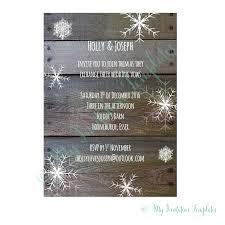 christmas invitation templates winter wedding invitations template rustic snowflake