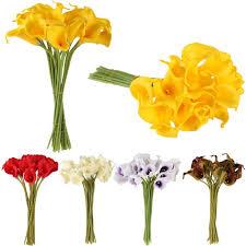 <b>10pcs</b>/<b>lot Artificial Flowers</b> Latex Calla Lily for Home Decoration ...