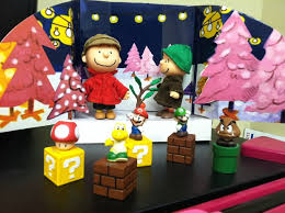 they took a stop where charlie brown was messing with a christmas tree they thought christmas tree office desk
