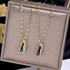 2020 women's new fashion titanium steel peanut Necklace ... - Vova