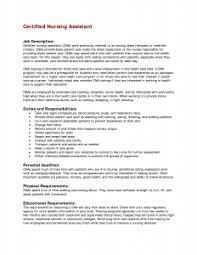 cna duties resume   best resume samplecna duties in a nursing home