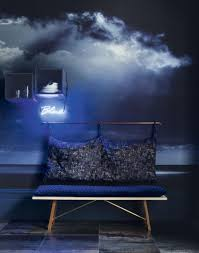 zones bedroom wallpaper: modern blue living room with dark sky wallpaper