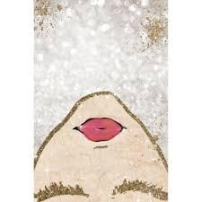 Oliver Gal™ Glitter Coveted <b>Girl</b> Canvas <b>Wall</b> Art in <b>Gold</b> | Bed Bath ...