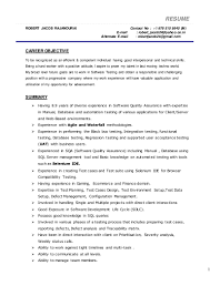 robert jacob resume manual database testing
