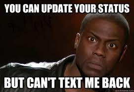 Oh So Were Not Texting Back Now Its Cool Kevin Hart Meme - kevin ... via Relatably.com