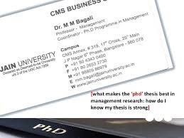 PhD in Management  HR  HRM  HRD       phd      thesis best in management rese