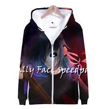 2019 Now <b>3D Sally Face</b> Frdun Harajuku <b>Zipper</b> Hoodies Sweatshirt ...