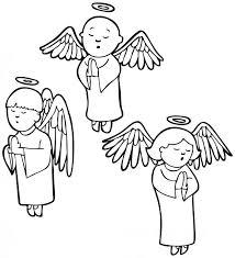 Resultado de imagen para angeles para colorear