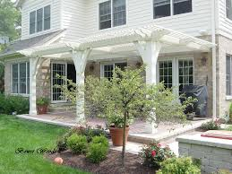 white colored ideas traditional recycled patio