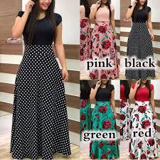 <b>2019 Summer</b> Dresses Long Boho Dress Rayon Floral Print ...