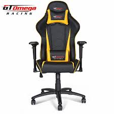 gt omega pro racing office chair black next yellow leather amazing yellow office chair