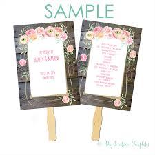 program samples archives my invitation templates for diy country flower wedding program fan template sample