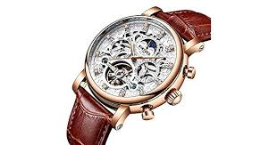 KKmoon <b>KINYUED</b> Luxury Diamond <b>Automatic Mechanical</b> Watch ...